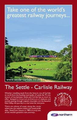Northern Rail advertisement for the Settle–Carlisle line