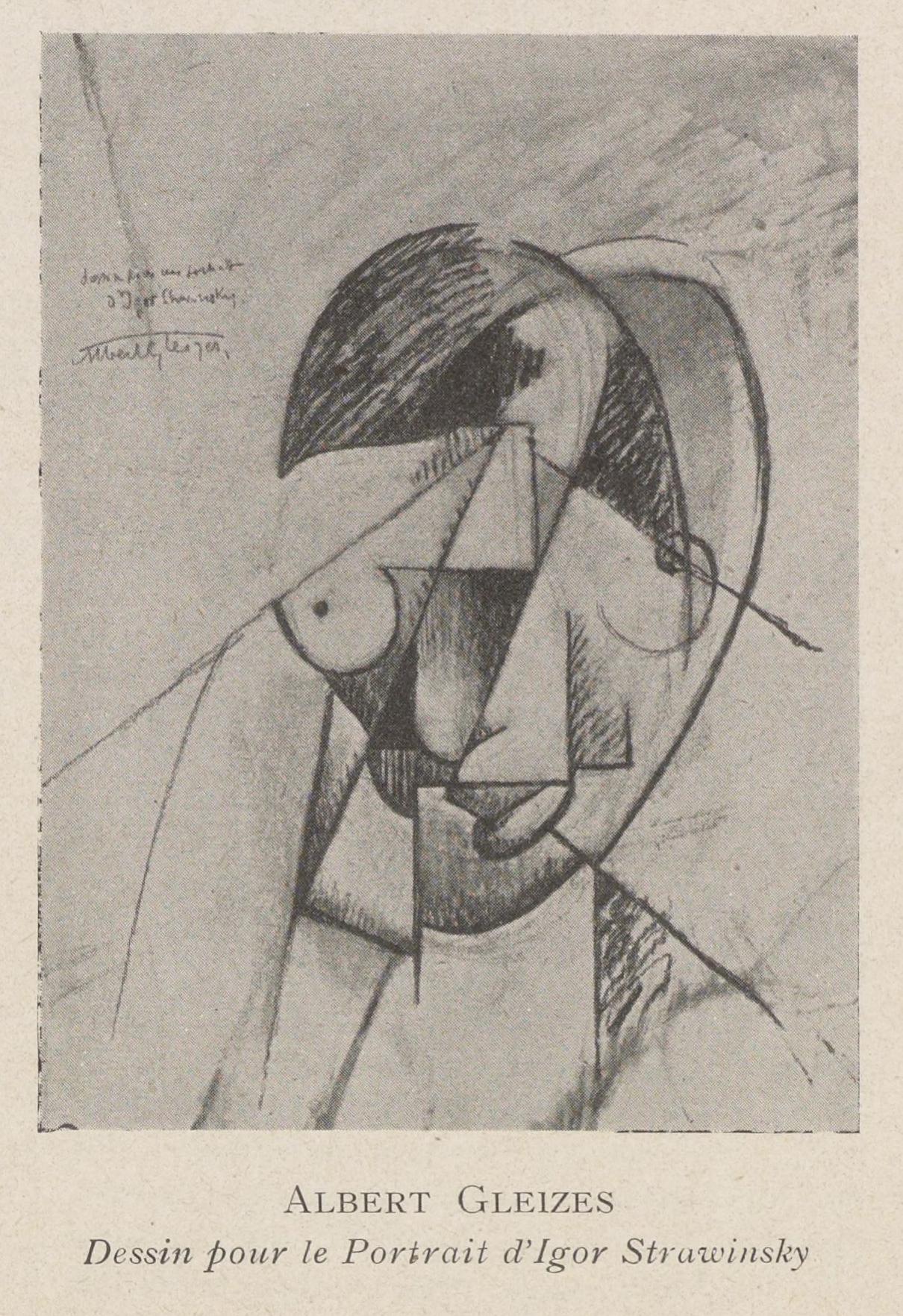 Filealbert Gleizes C1914 Dessin Pour Le Portrait De