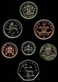 Coins of the pound sterling British current and historic coinage