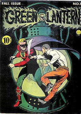 Green Lantern #1 (July 1941). Cover art by Purcell