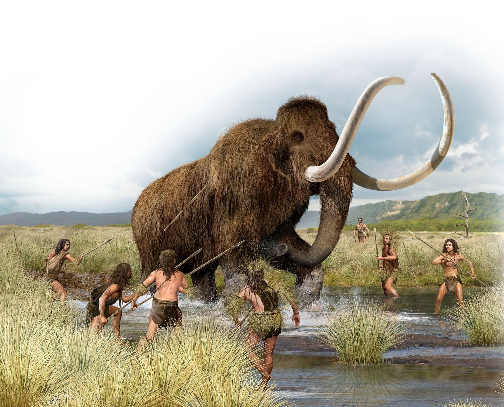 Hunting wooly mammoth