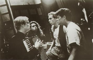 Moxy Früvous, 1993 (left to right: Dave Matheson, Jian Ghomeshi, Murray Foster, Mike Ford)