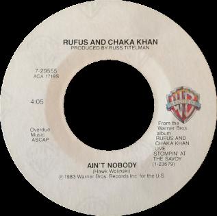 Aint Nobody 1983 single by Rufus and Chaka Khan