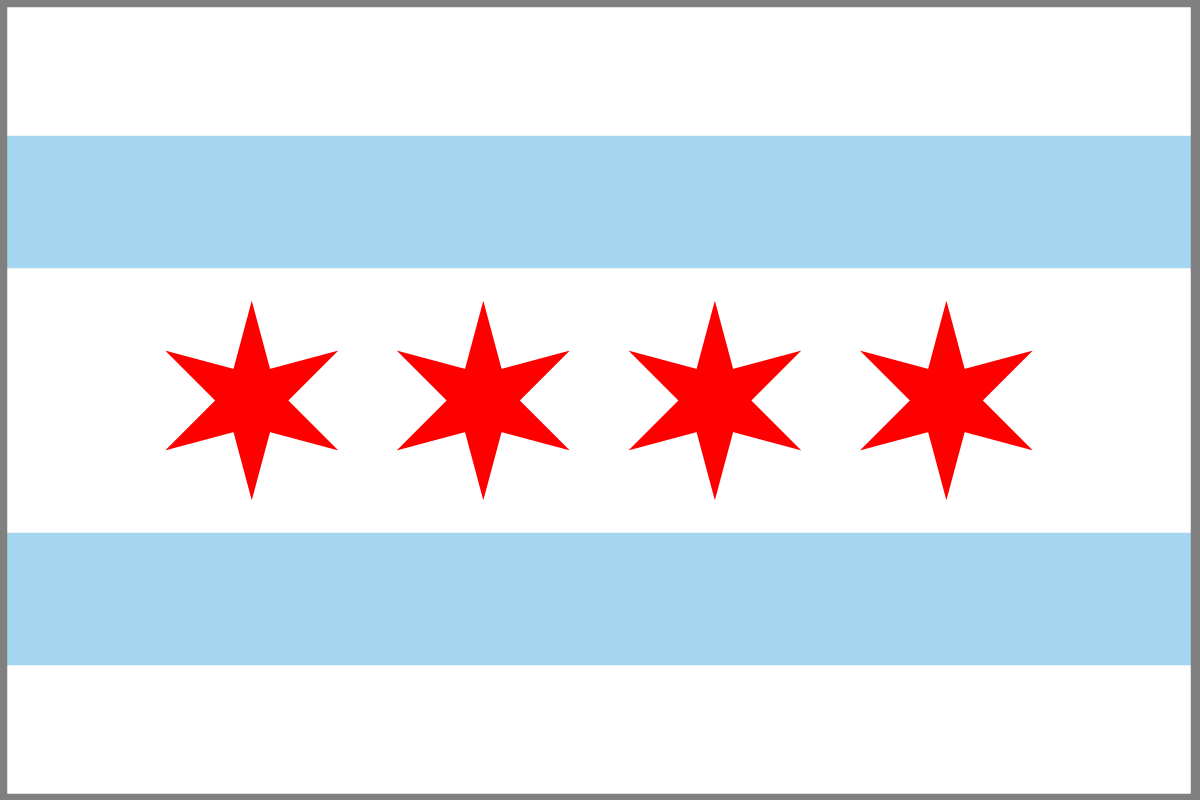 Original file      1 200   215  800 pixels  file size  35 KB  MIME type    Official Chicago Flag