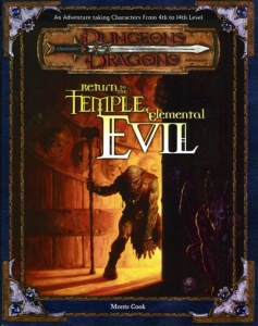<i>Return to the Temple of Elemental Evil</i> book by Monte Cook