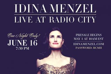 Idina Menzel: Live at Radio City - Wikipedia