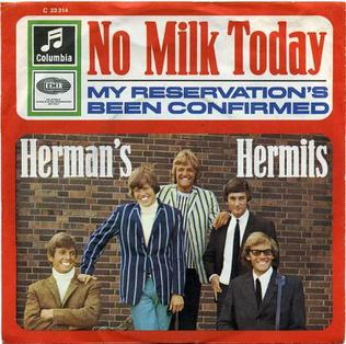 Image result for No Milk Today Herman's Hermits pictures