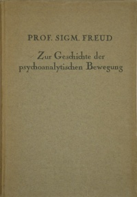 On the History of the Psychoanalytic Movement, 1924 German edition.jpg