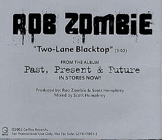 two lane blacktop rob zombie скачать