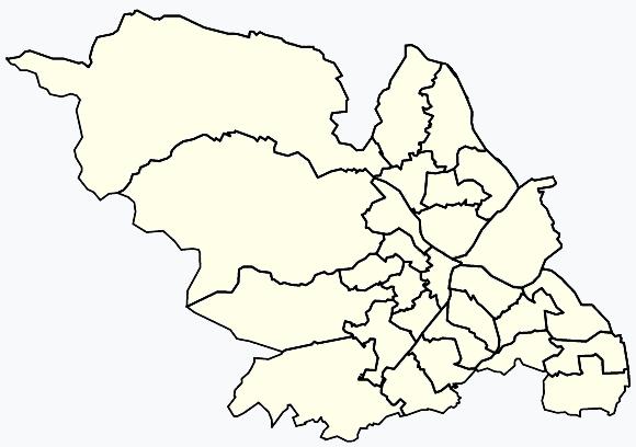Sheffield Areas Map Areas of Sheffield   Wikipedia Sheffield Areas Map