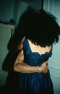 The Hug, NYC, 1980, cibachrome, by Goldin.