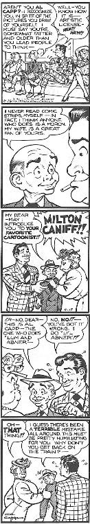 """I do Li'l Abner!!,"" a self-portrait by Al Capp, excerpted from the