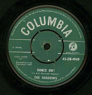 Dance On! 1962 single by The Shadows