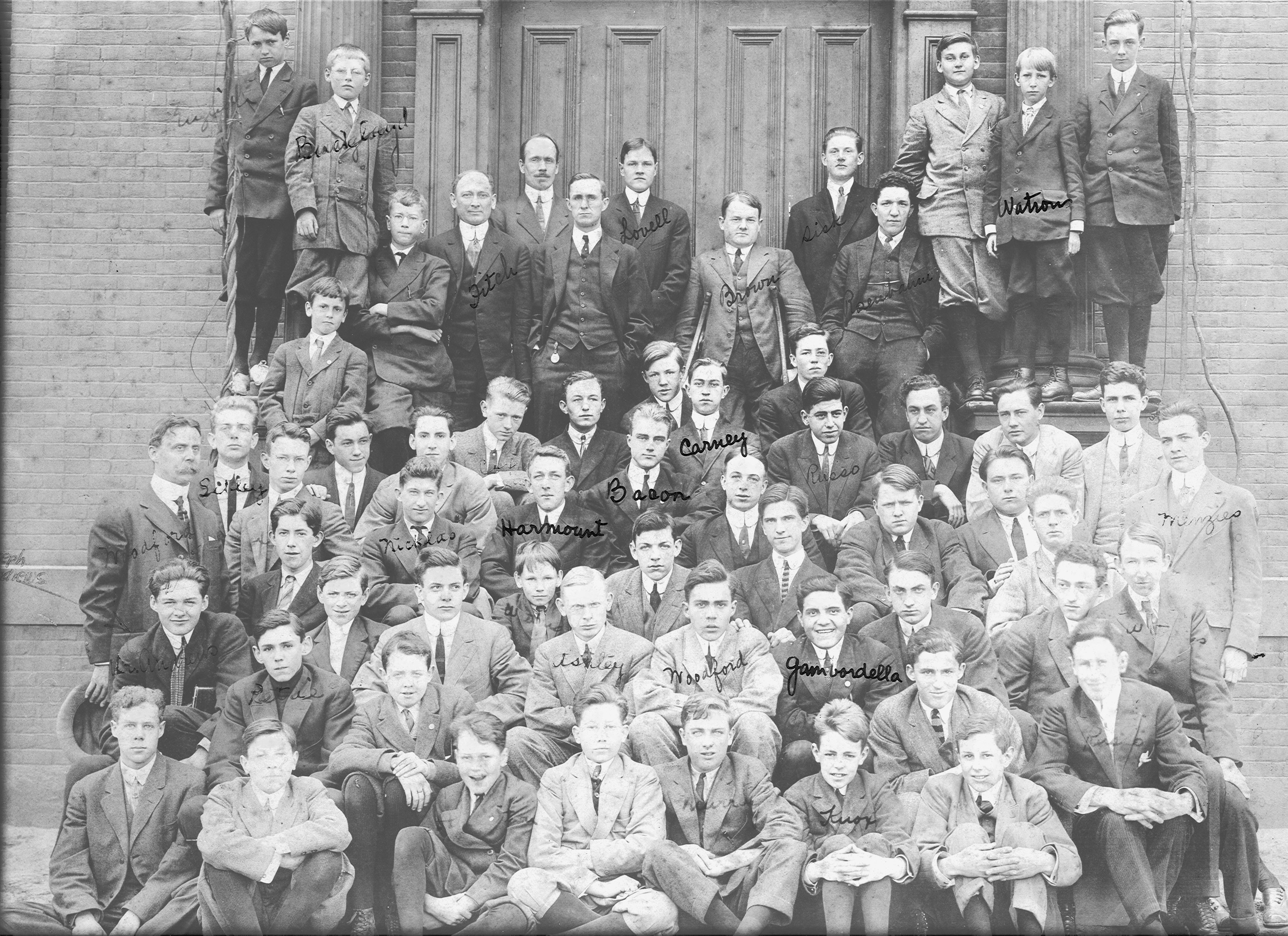 The 1911 student body of the Hopkins