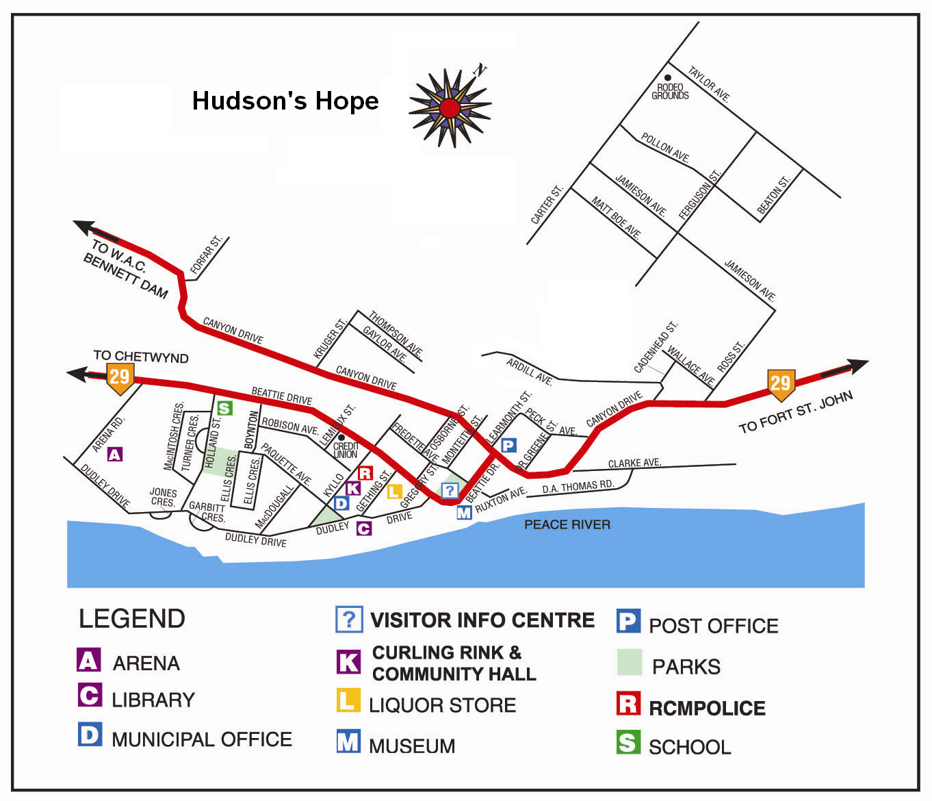 Map Of Hope Bc Canada File:Hudson's Hope BC map.PNG   Wikipedia
