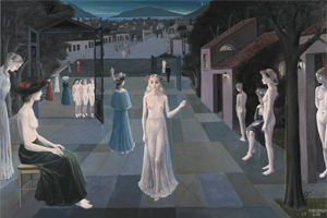<i>The Road to Rome</i> (painting) painting by Paul Delvaux