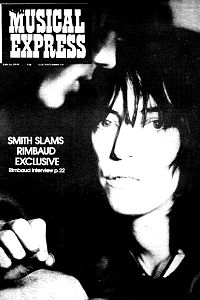 New Musical Express cover, 21.02.76 (Patti Smith)