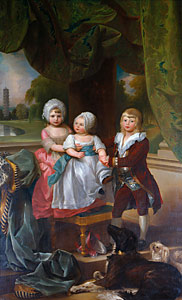 Prince Adolphus aged four, with his two younger sisters Mary and Sophia in 1778 Prince Adolphus, Princess Sophia, and Princess Mary.jpg