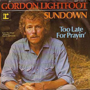 Sundown (Gordon Lightfoot song) song by Canadian folk artist Gordon Lightfoot