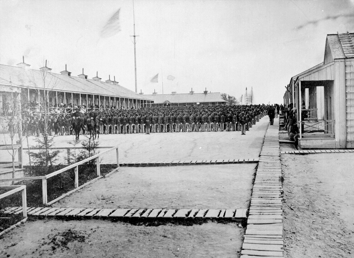 The 26th U.S. Colored Volunteer Infantry on parade, Camp William Penn, Pennsylvania, 1865.