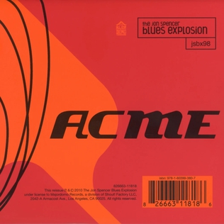 <i>Acme</i> (album) 1998 studio album by Jon Spencer Blues Explosion