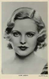 Joan Barry (British actress) British actress
