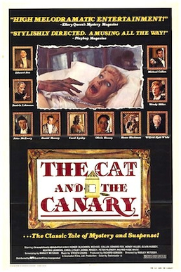 The cat /& the canary Bob Hope vintage movie poster