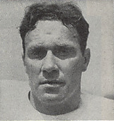 A headshot of Fred Evans from a 1946 Cleveland Browns game program