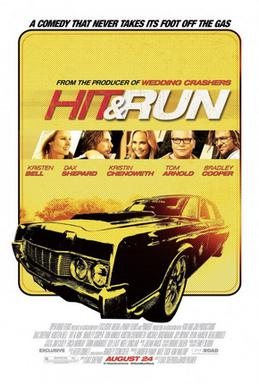 Movie release poster for Hit and Run, courtesy Open Road Films