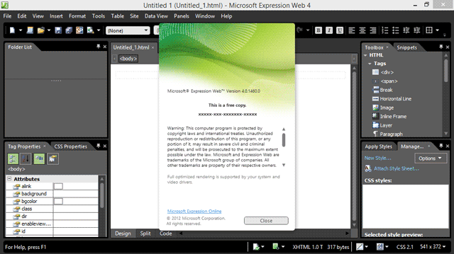 File Microsoft Expression Web Screenshot Png Wikipedia