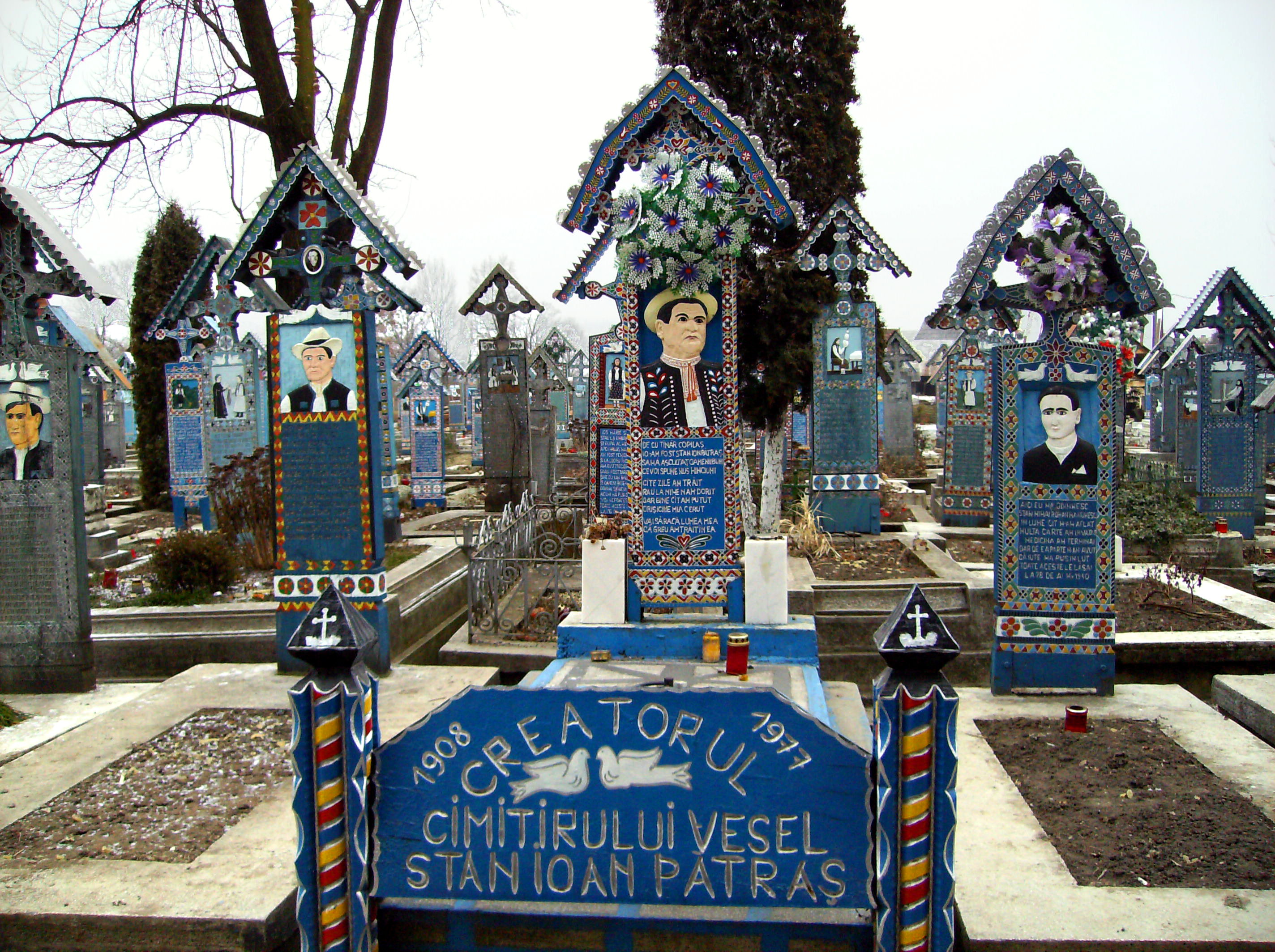 Image result for Sapanta Merry Cemetery in Romania