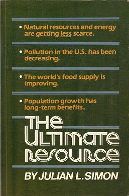 <i>The Ultimate Resource</i> book by Julian Lincoln Simon