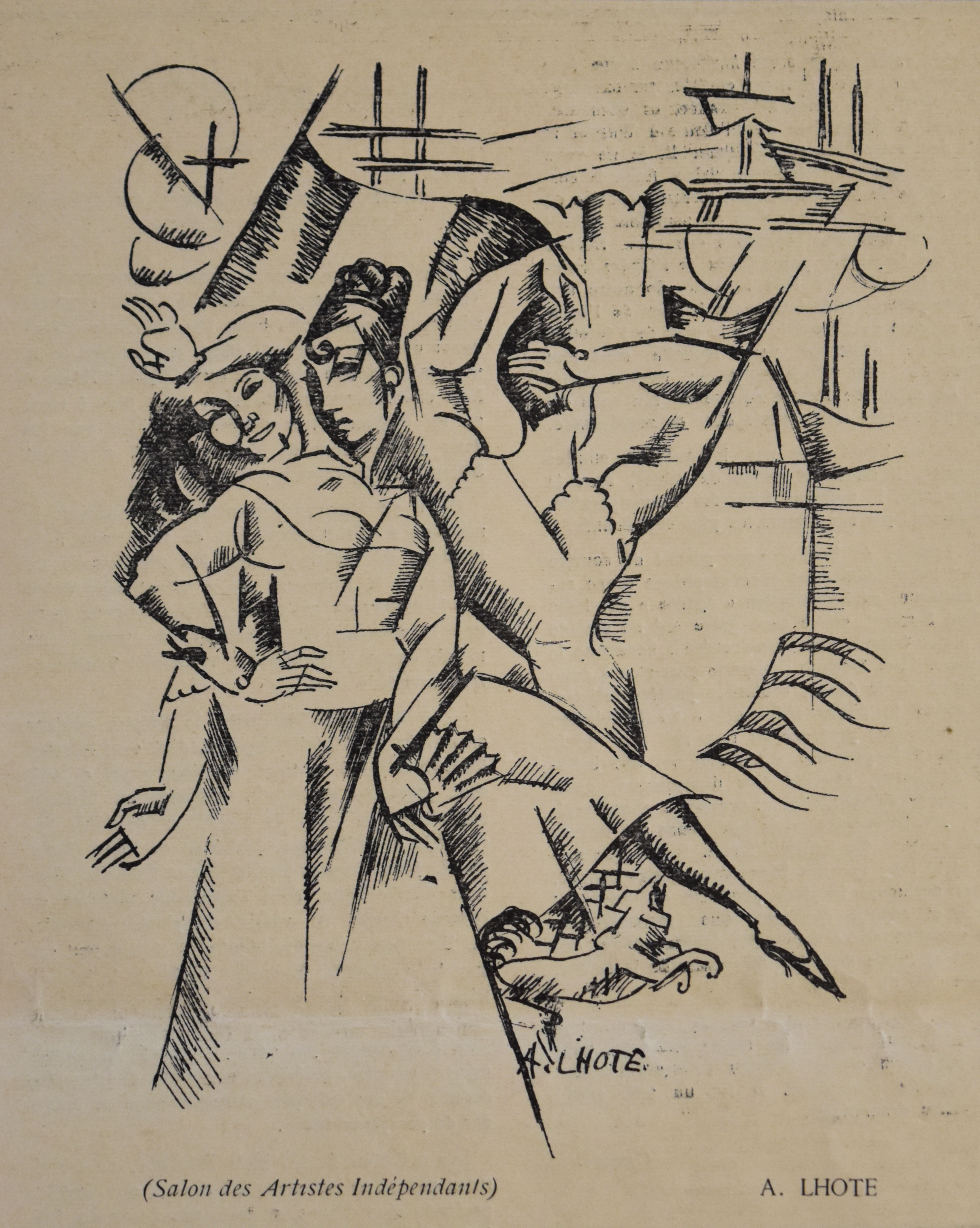 Fileandré Lhote 1913 Dessin Pour Lescale Published In