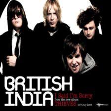 I Said Im Sorry single by British India