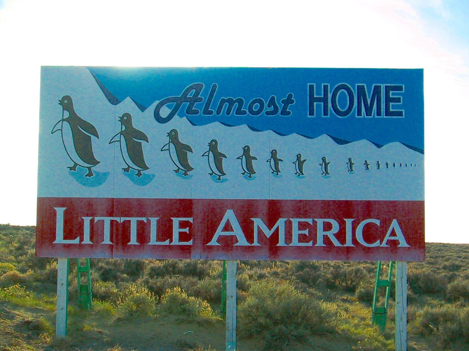 Billboard Near Little America Wyoming 2002