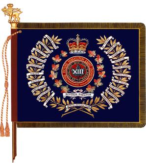 The regimental colour of the Royal Hamilton Light Infantry (Wentworth Regiment)