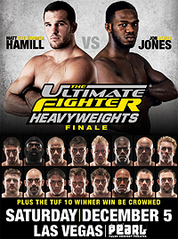 A poster or logo for The Ultimate Fighter: Heavyweights Finale.