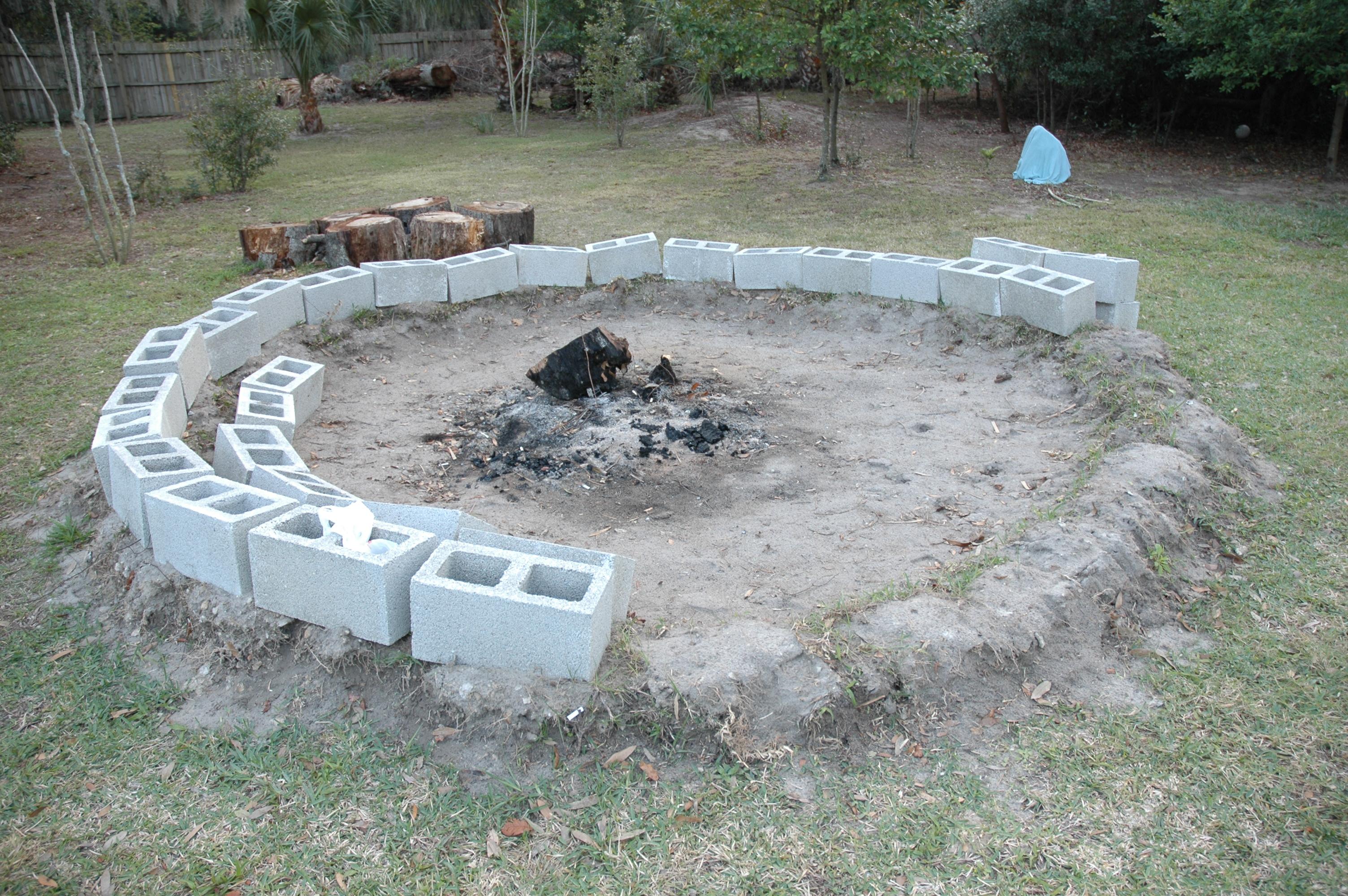 Blogtama for Concrete fire pit plans