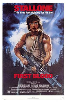 First blood poster - rambo:first blood [1982]