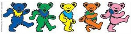 "Owsley ""Bear"" Stanley wrote that the ""dancing bears"" designed by Bob Thomas for History of the Grateful Dead, Volume One (Bear's Choice) are marching, not dancing. GDDancingBears.jpg"