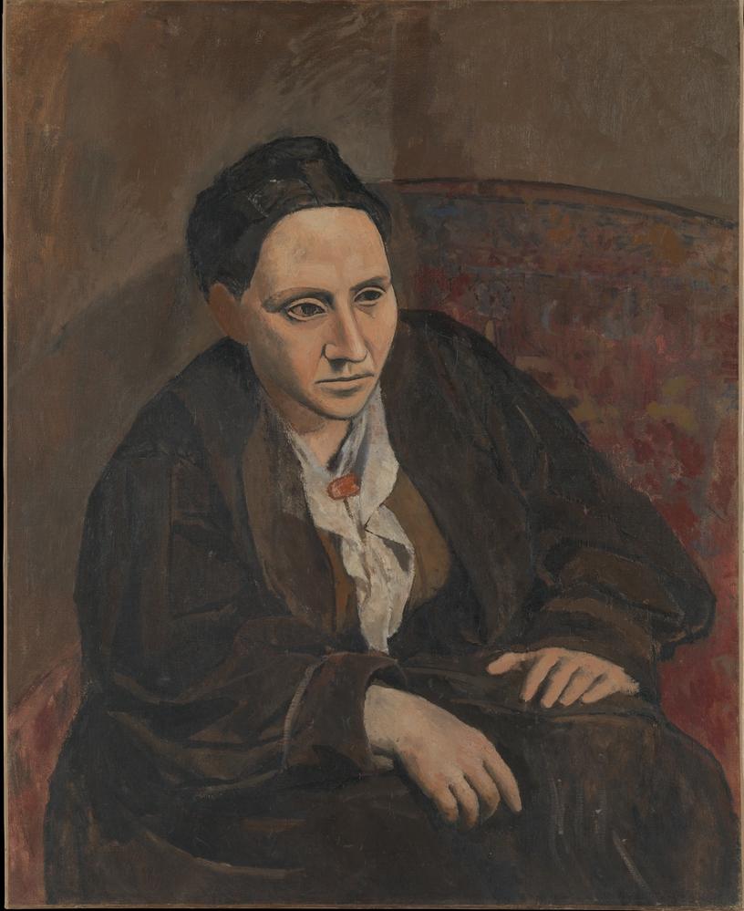Picasso, Portrait of Gertrude Stein, 1906