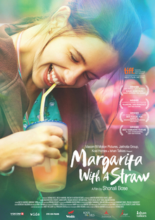 The poster depicts Kalki Koechlin sipping on a margarita.