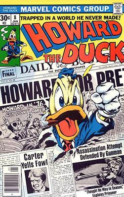 Howard the Duck #8 (Jan. 1977). Cover art by Gene Colan and Steve Leialoha