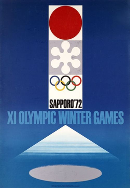 The official poster of the 1972 Winter Olympics.