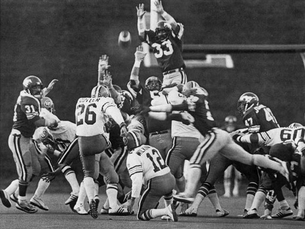 CFL Calgary vs Edmonton 1978(Doug Falconer#33)