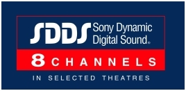 SDDS 8-Channels; this logo is used when all 8 channels are used as opposed to the usual six.