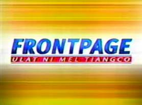 <i>Frontpage: Ulat ni Mel Tiangco</i> Philippine television show
