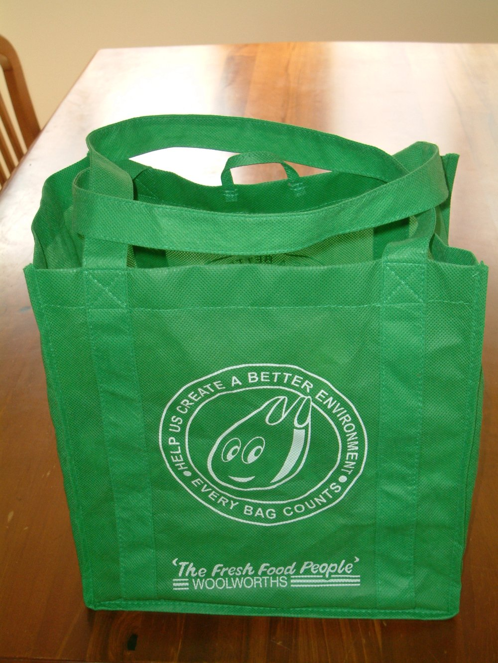 Use In Australia And New Zealand Edit A Green Bag From