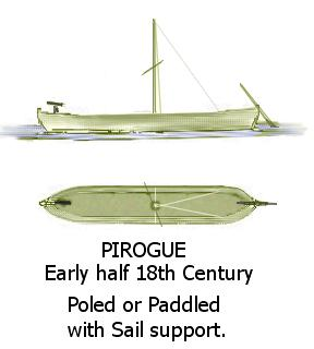 Depiction, Spanish and French Pirogue and bow gun along the Mississippi and lower Ohio rivers. (R Connolly) Mississippi Pirogue.JPG
