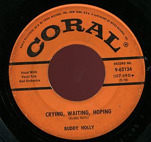 Crying, Waiting, Hoping single by Buddy Holly